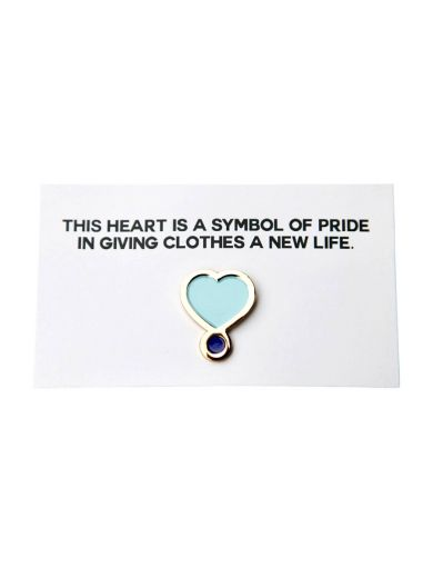 Blue ReLoved Pin